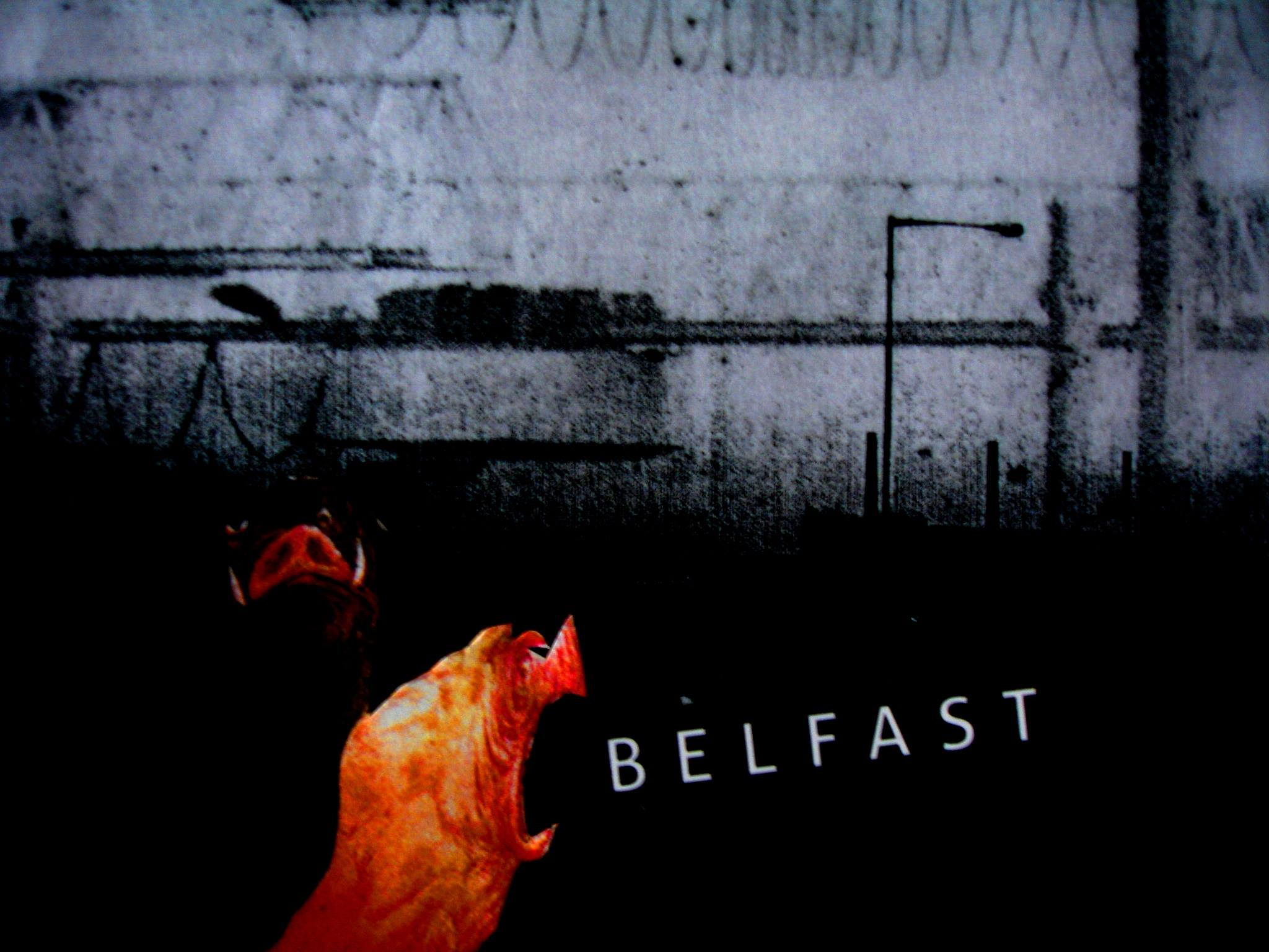 A collage of a cityscape of Belfast